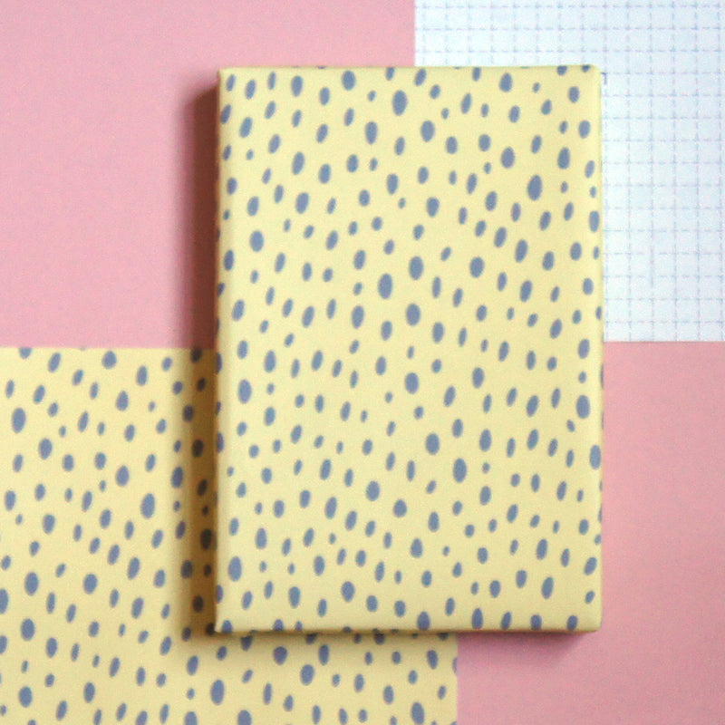 Recyclable Wrapping Paper - Lemon Dot by Cadeaux Paperworks
