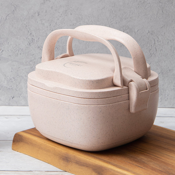 Recycled Rice Husk Lunchbox - Rose Pink