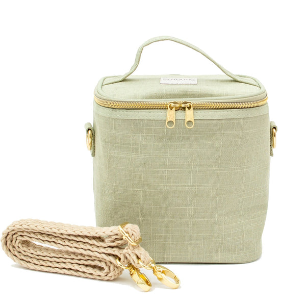 Linen Insulated Lunch Bag - Sage Green by SoYoung