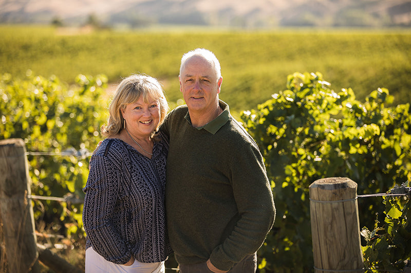 Sam and Mandy Weaver from Churton Wines in Marlborough, New Zealand