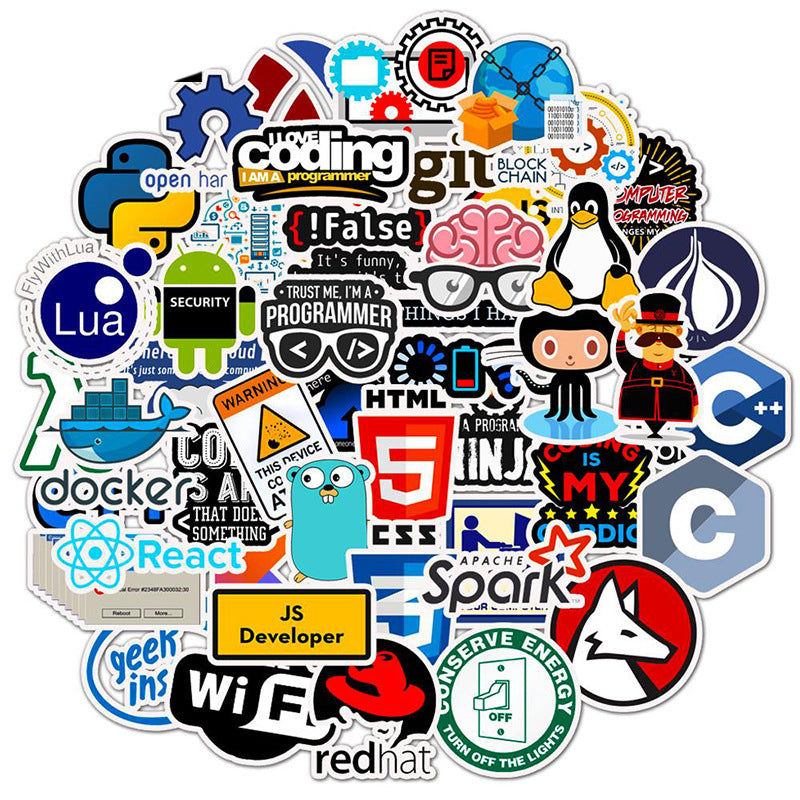 Stickers for geeks - 50 PCS Laptop Sticker