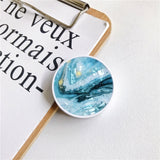 Glossy Marble Expanding Phone Stand Grip Finger Ring