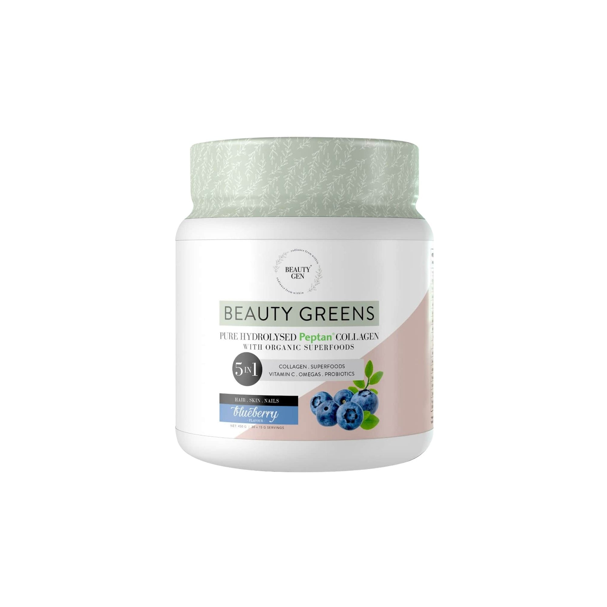 Beauty Gen Beauty Greens Blueberry 450g