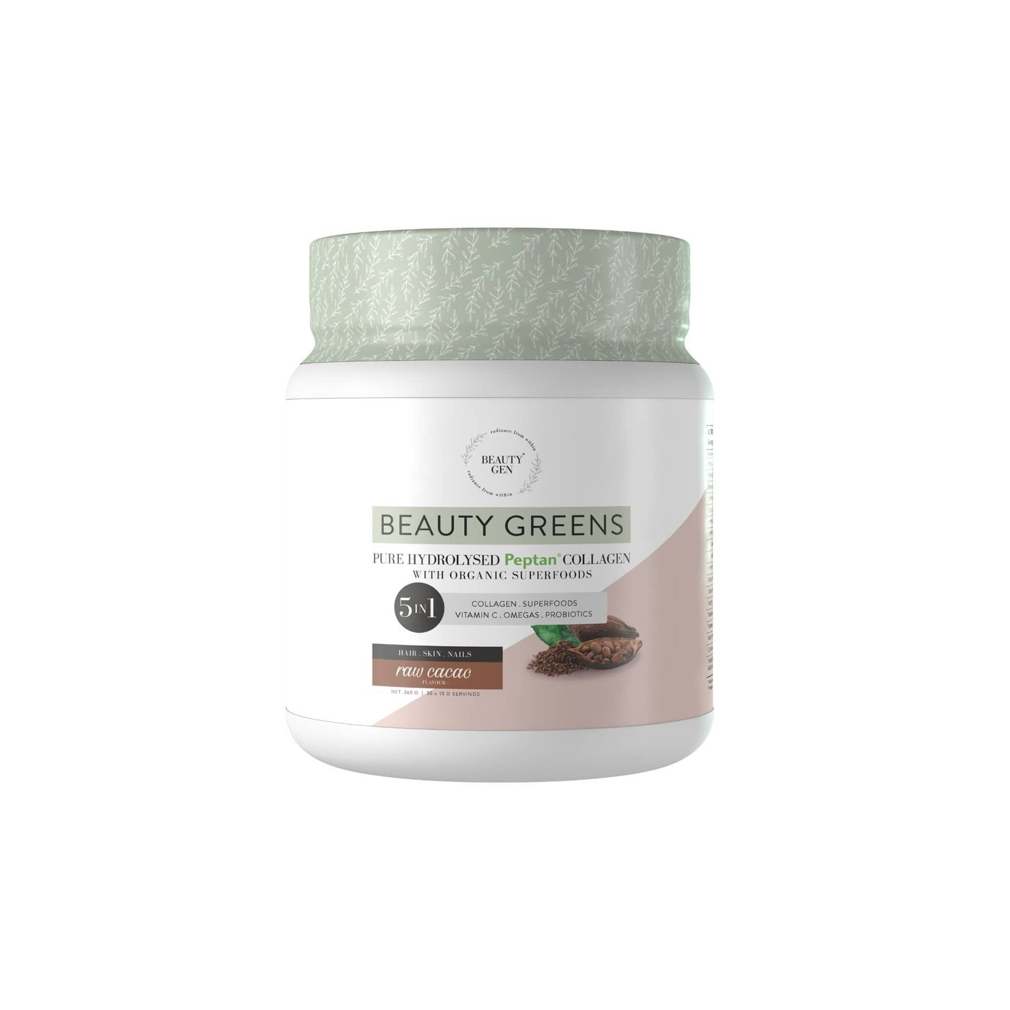 Beauty Gen Beauty Greens Raw Cacao 450g