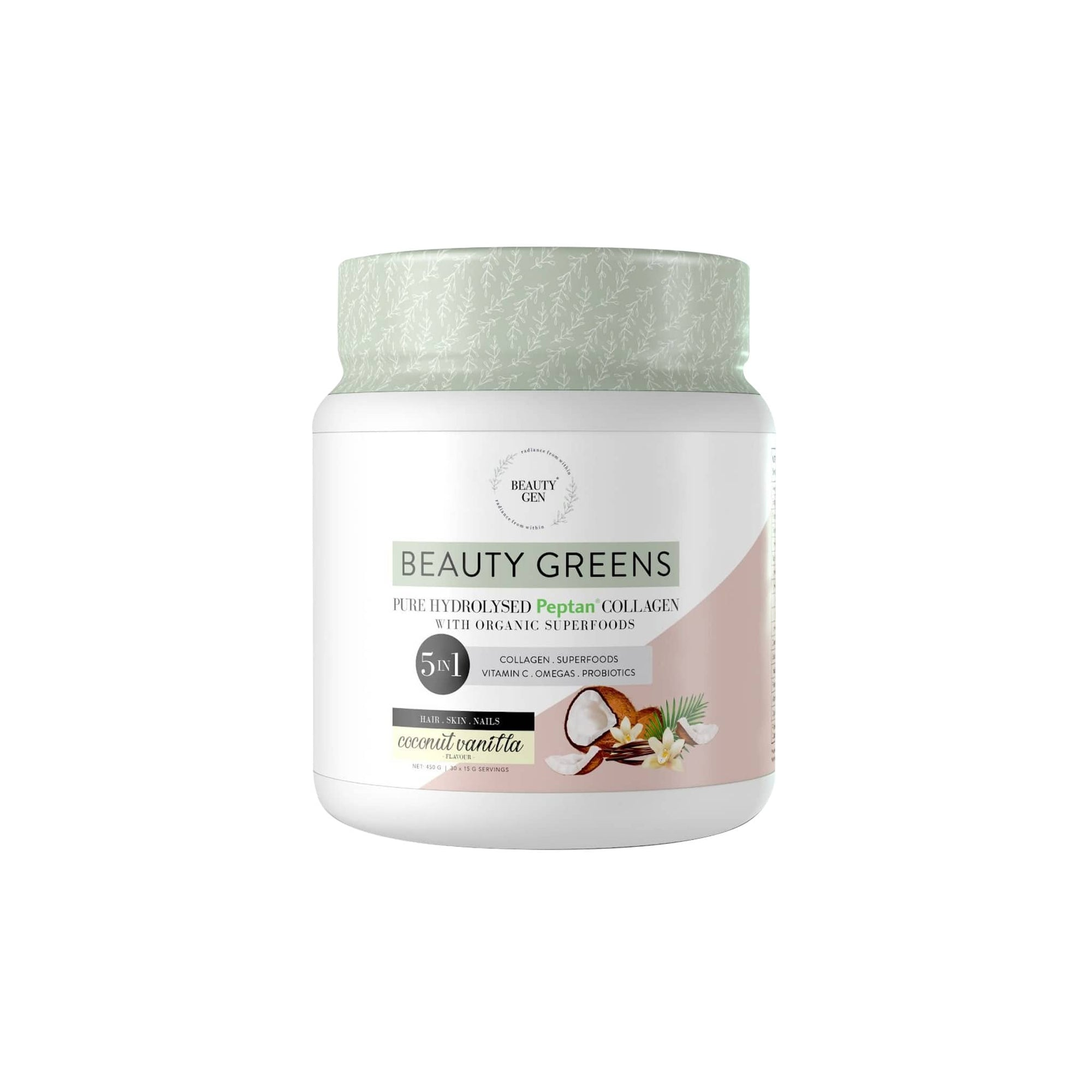 Beauty Gen Beauty Greens Coconut Vanilla 450g