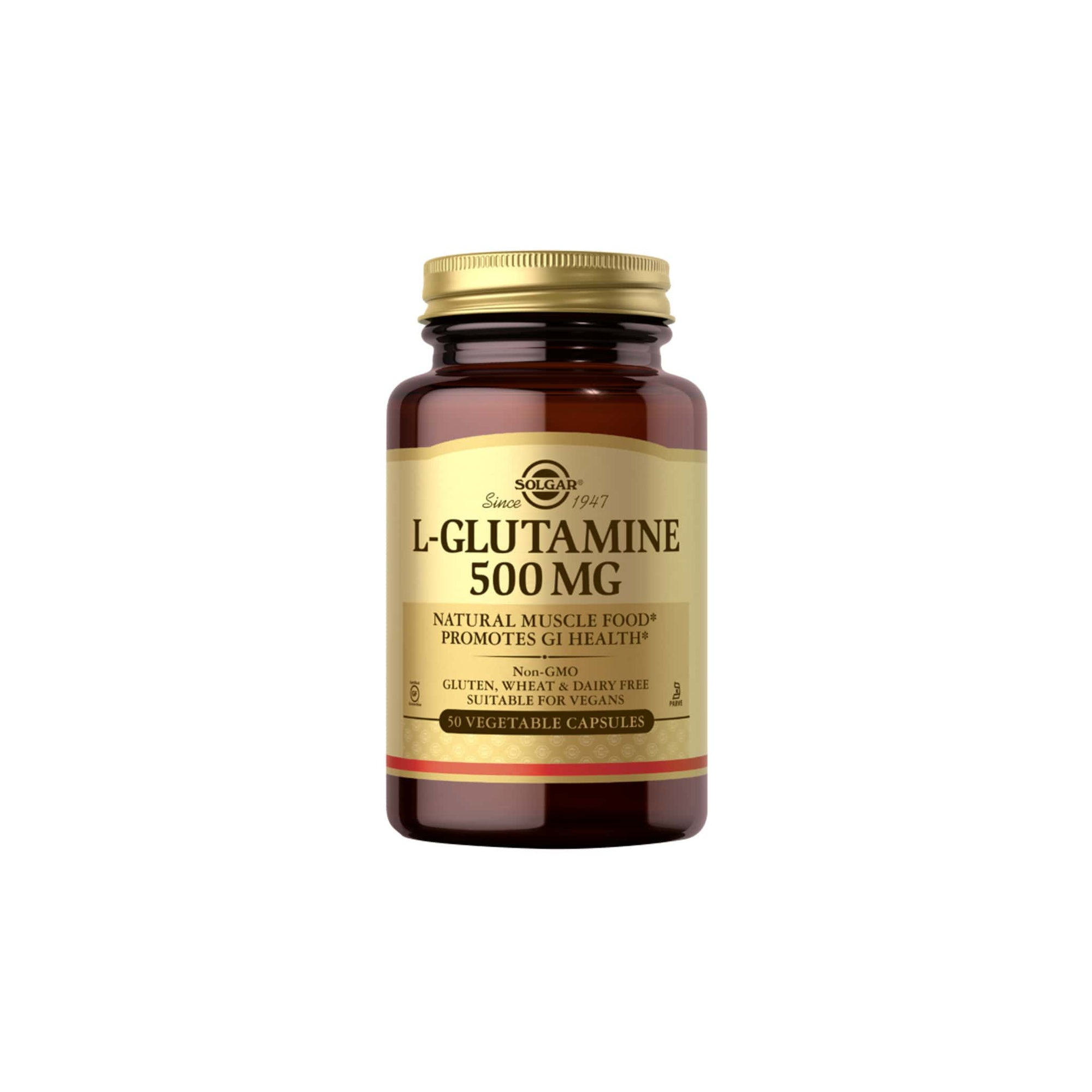 Solgar L-Glutamine 500mg Vegicaps 50's