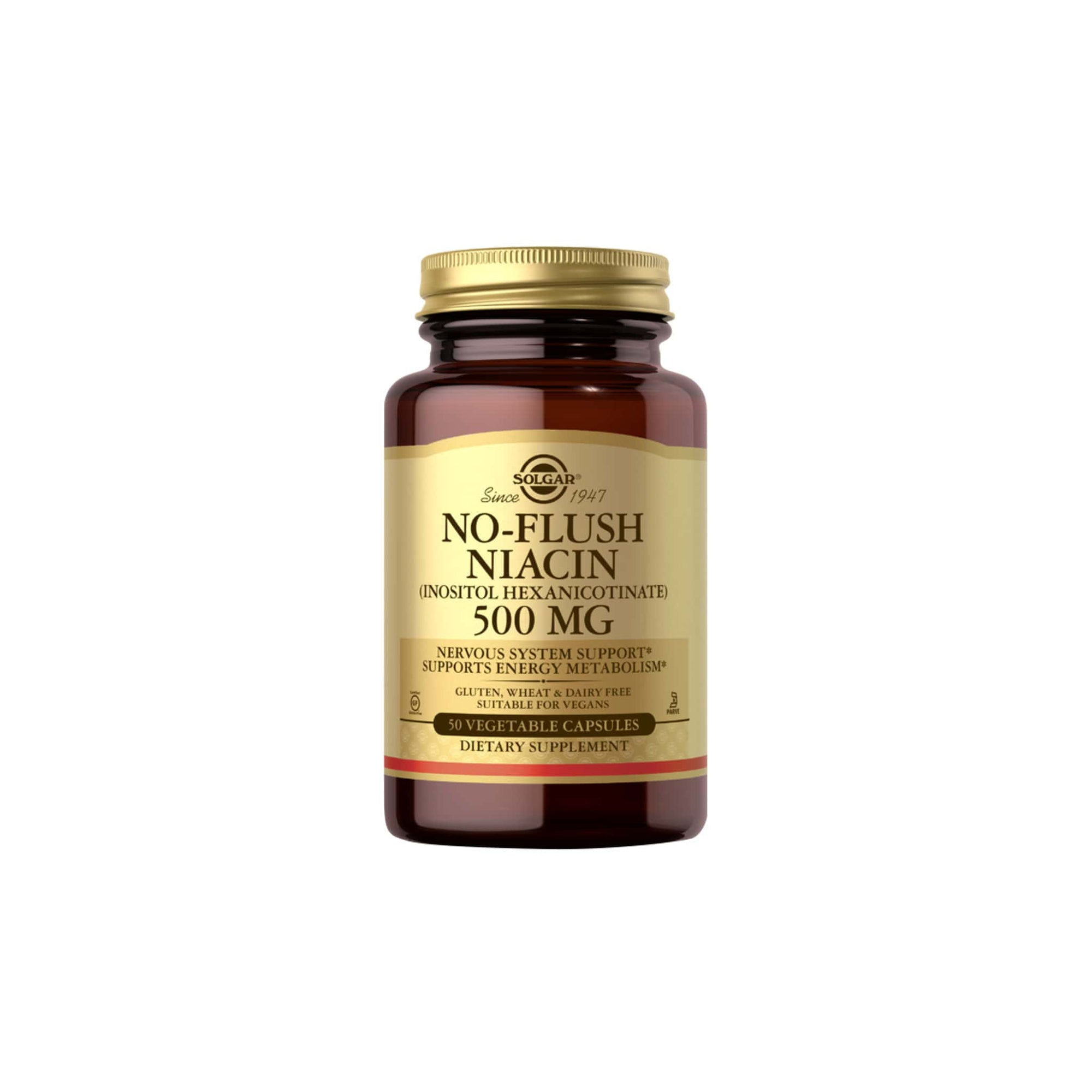 Solgar No Flush Niacin 500MG Vegetable Capsules 50's