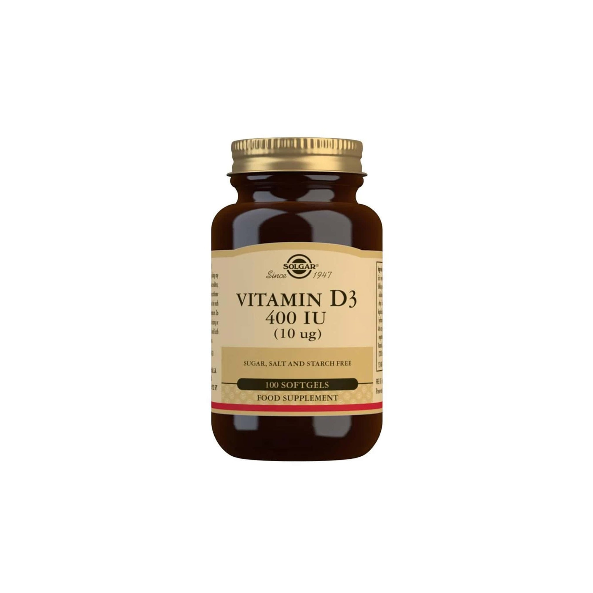 Solgar Vitamin D3 10 MCG Softgels 100's