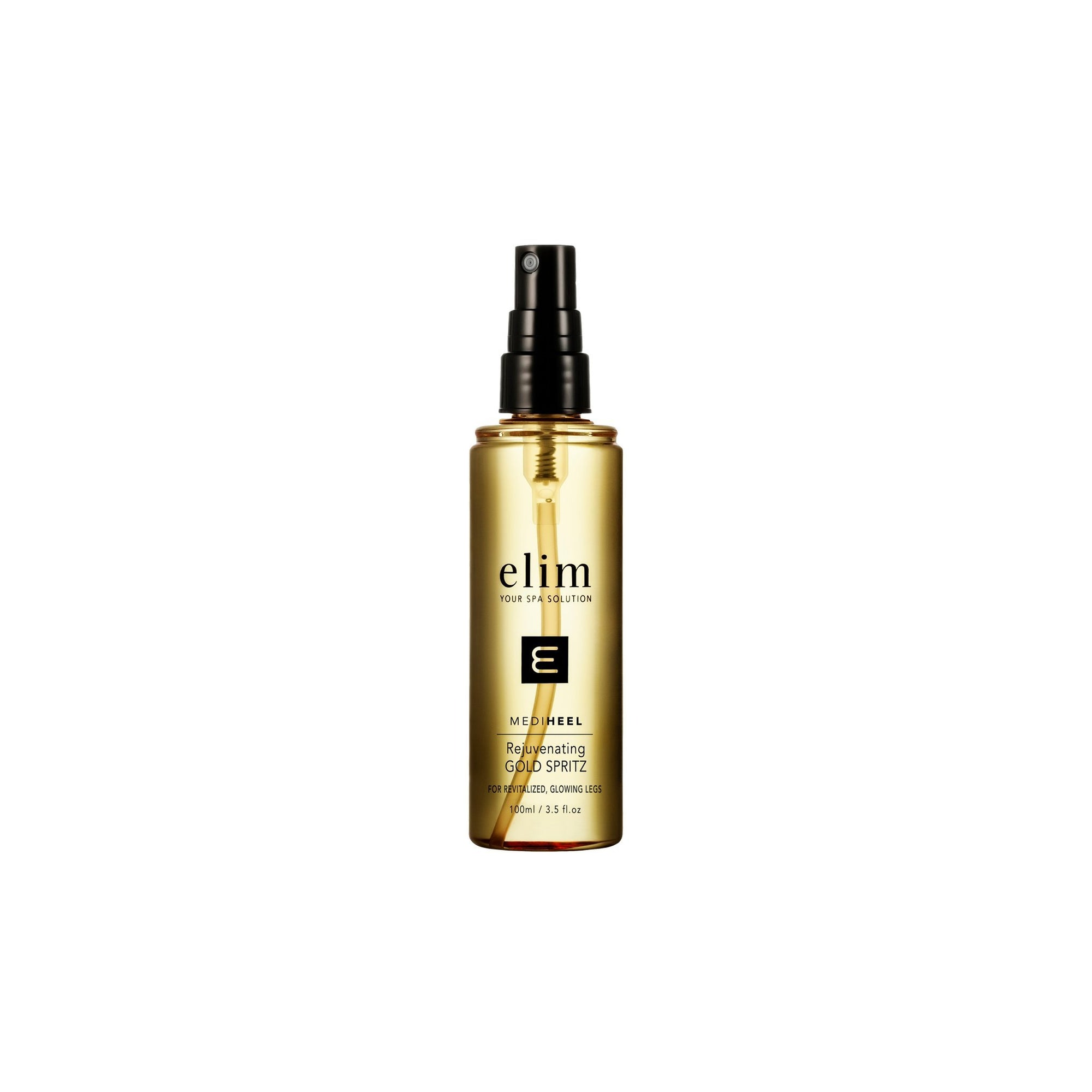 Elim MediHeel Rejuvenating Gold Spritz Liquid Gold Body Shimmer 100ml