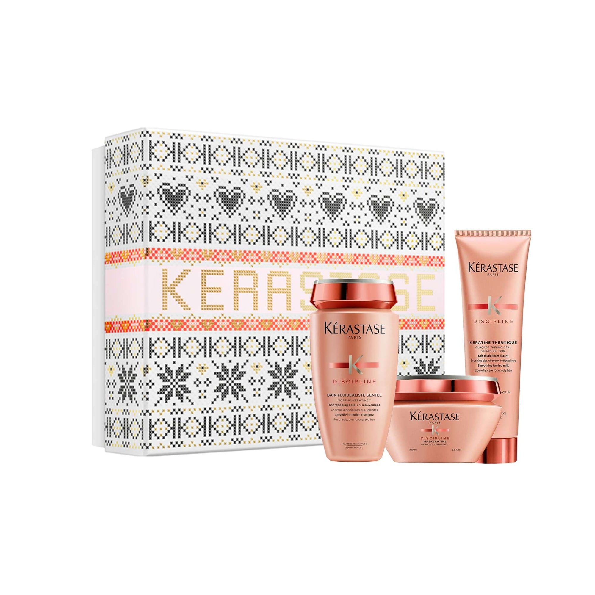 Kerastase Discipline Luxury Masque Gift Set For Smooth Frizz-Free Hair