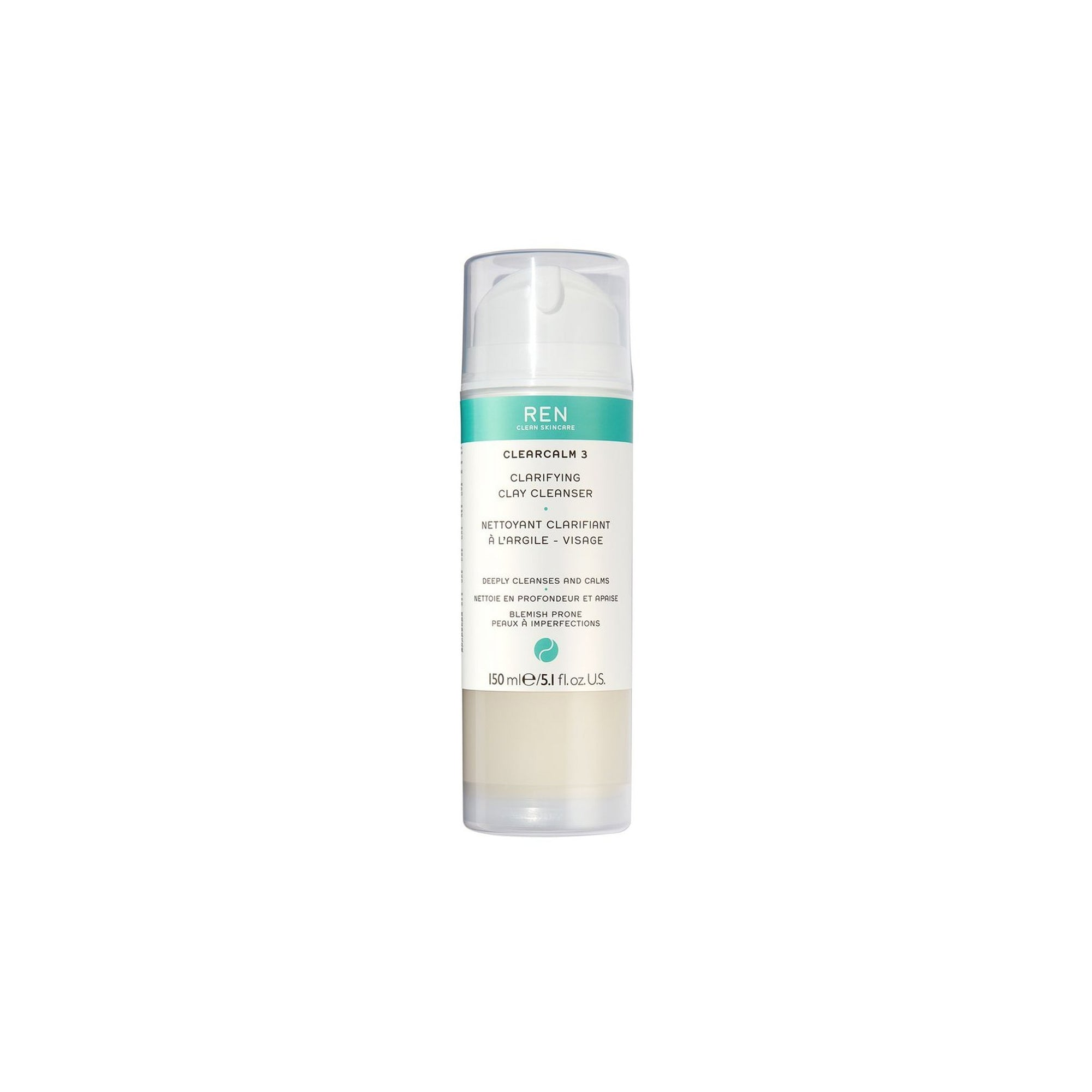 Ren Clear Clarifying Clay Cleanser 150ml