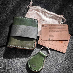 Box set Wallet + Keychain - Green