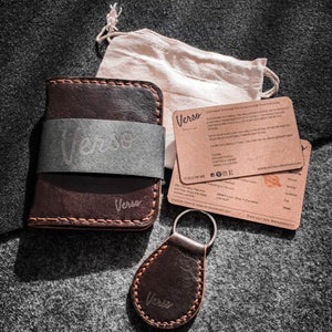 Box set Wallet + Keychain - Brown