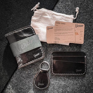 Box set Wallet + Cardholder + Keychain - Black