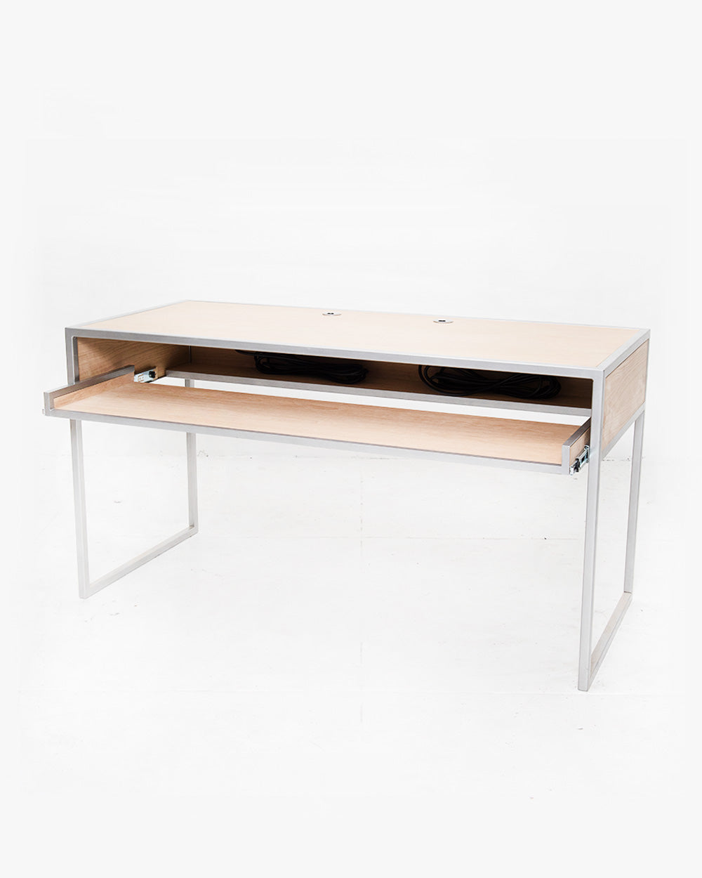 Essential Studio Desk (Oak / Brushed Steel)