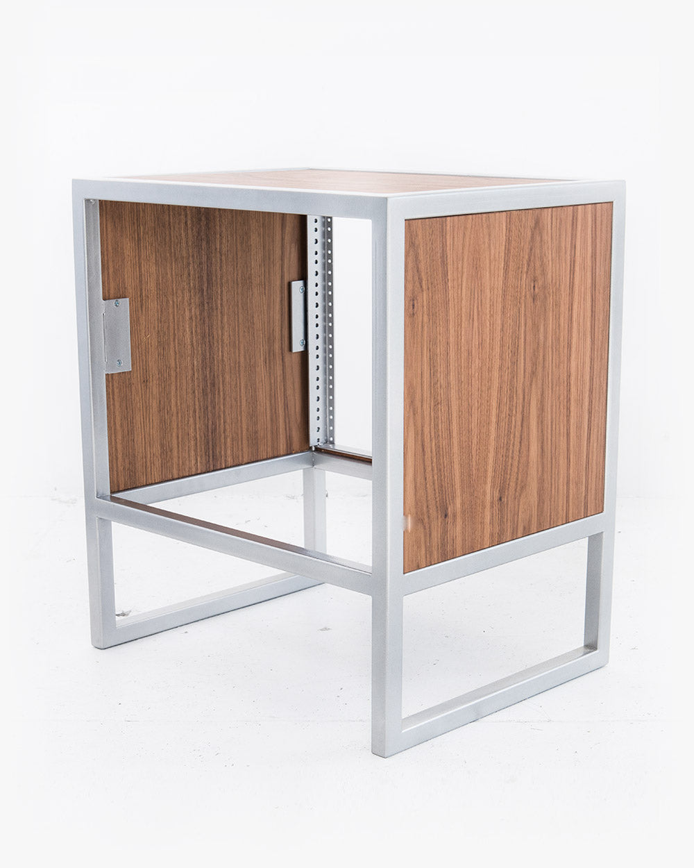 8U Studio Rack (Walnut / Brushed Steel)