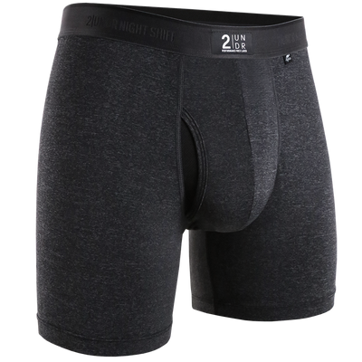Night Shift Boxer Brief - Charcoal