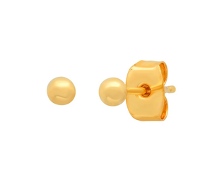 Gold Ball Past Earring