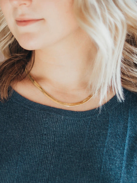 Herringbone Chain Necklace
