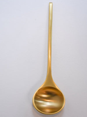 Extra Large Brass Serving Spoon
