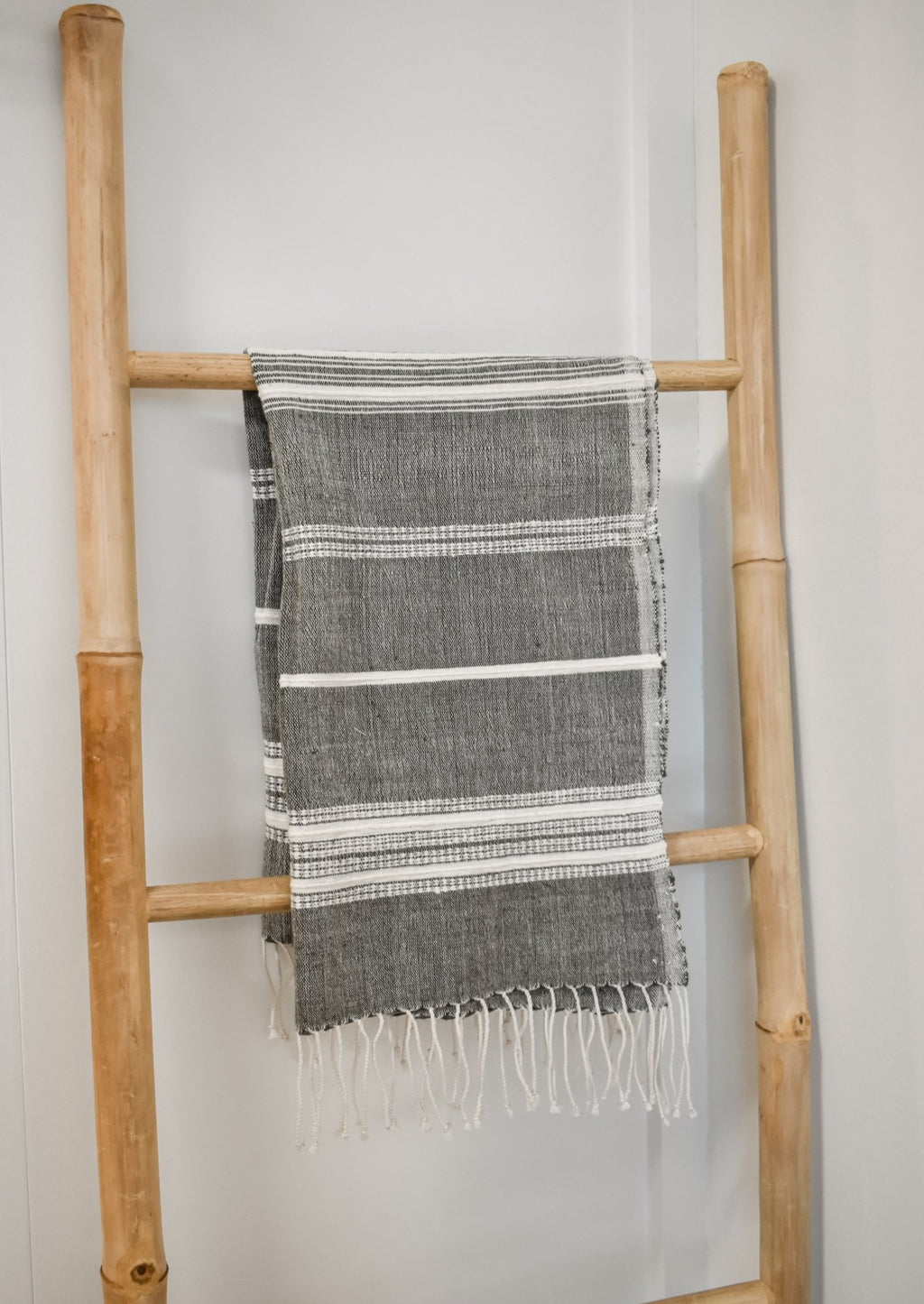 Gray Tasseled Hand Towel