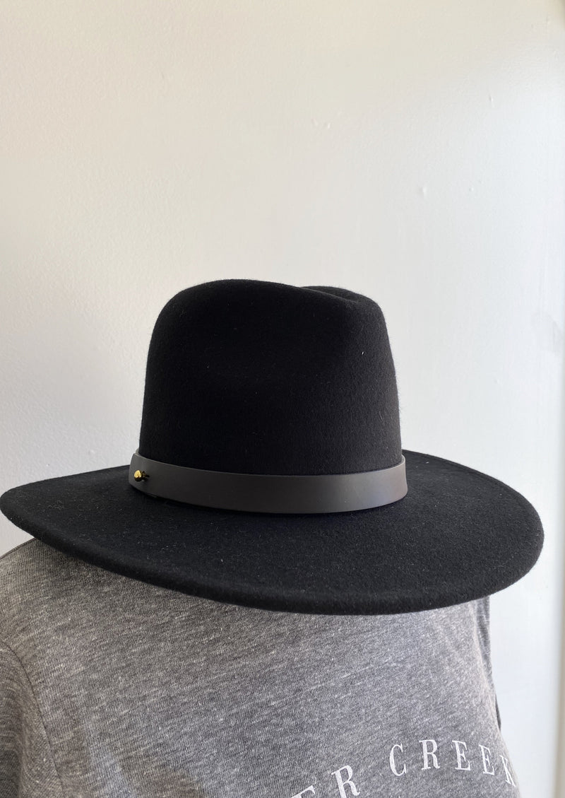 Prism Black w/ Black Leather Band Hat