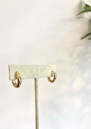 Oval Huggie Earrings