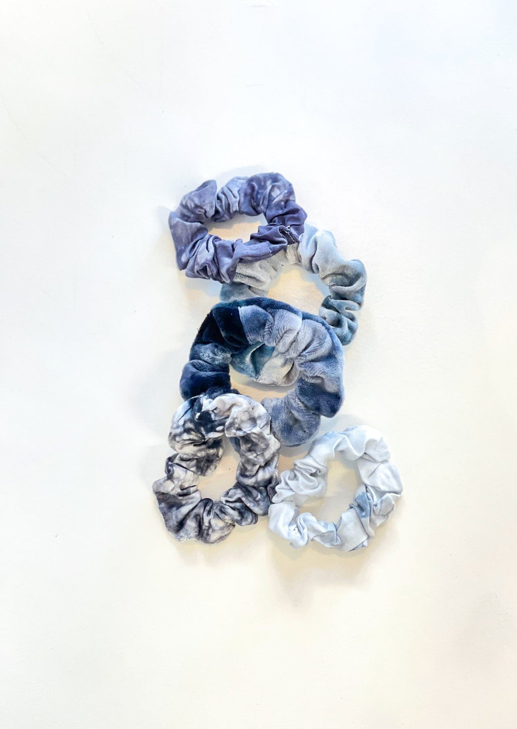 Tie Die Cotton & Velvet Hair Scrunchies