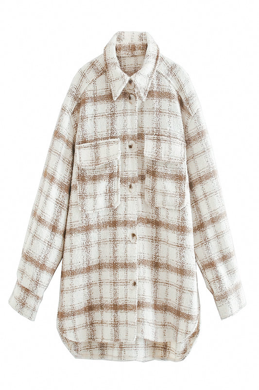 Sandy Flannel Shacket