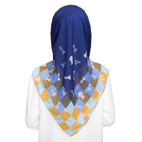 Diva Scarf - Blueberry Chess