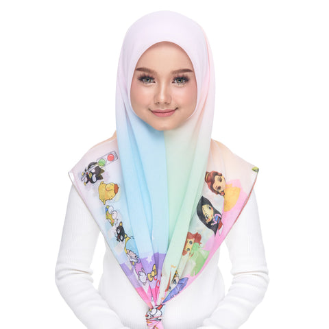 Image of Diva Scarf - Kitty & Friends