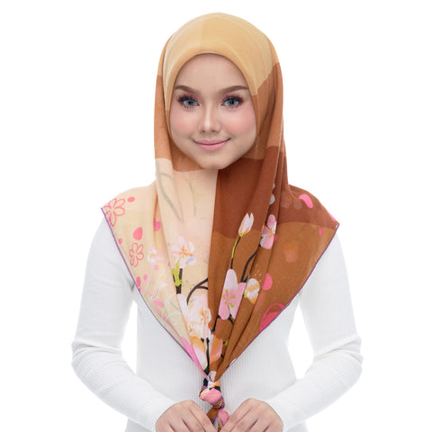 Diva Scarf - Flower Stripe