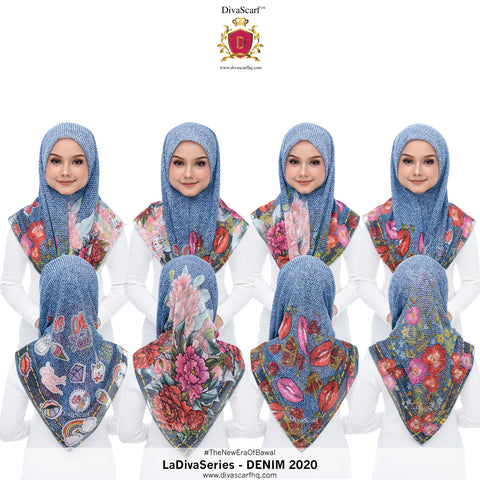Image of Diva Scarf - Denim 2020