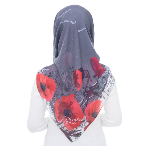Image of Diva Scarf - Fleur Silver Pearl