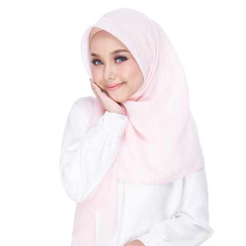 Image of Diva Scarf - Bawal Plain - Barely Pink