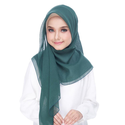 Image of Diva Scarf - Bawal Plain - Dark Green