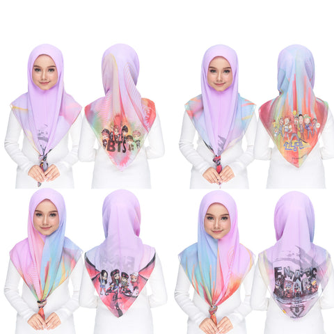 Image of Diva Scarf - Bawal KPOP ( BTS / Runningman / Black Pink / Big Bang / Korea )