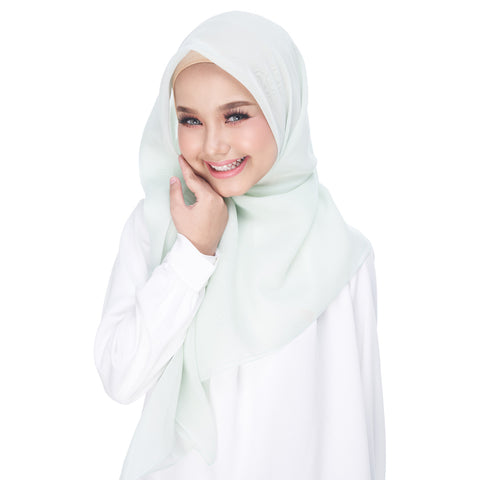 Image of Diva Scarf - Bawal Plain -  Milky Green
