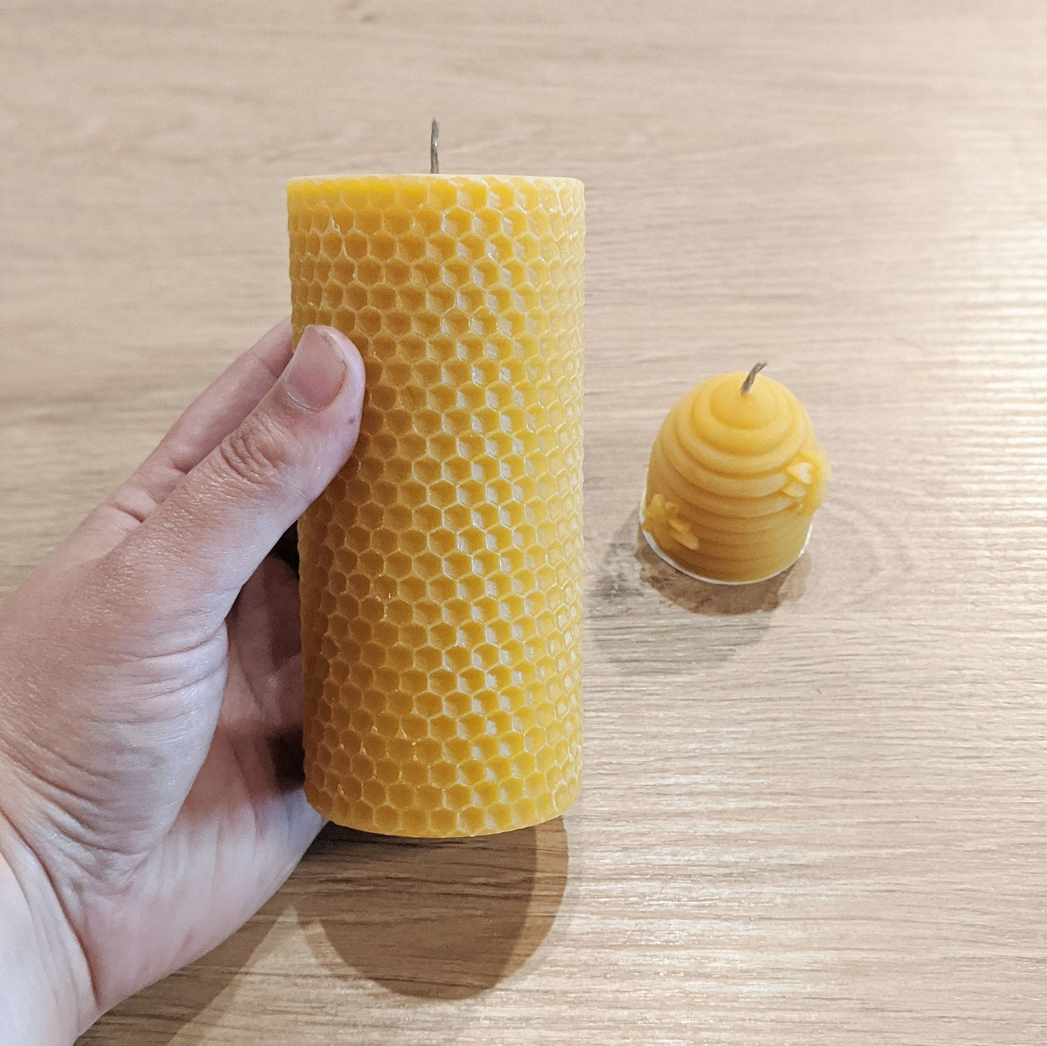 Unscented Beeswax Candle