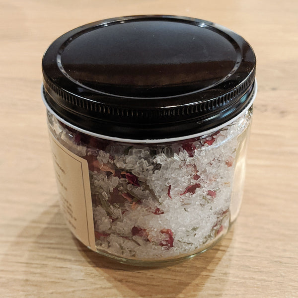Lavender & Rose Herbal Salt Soak
