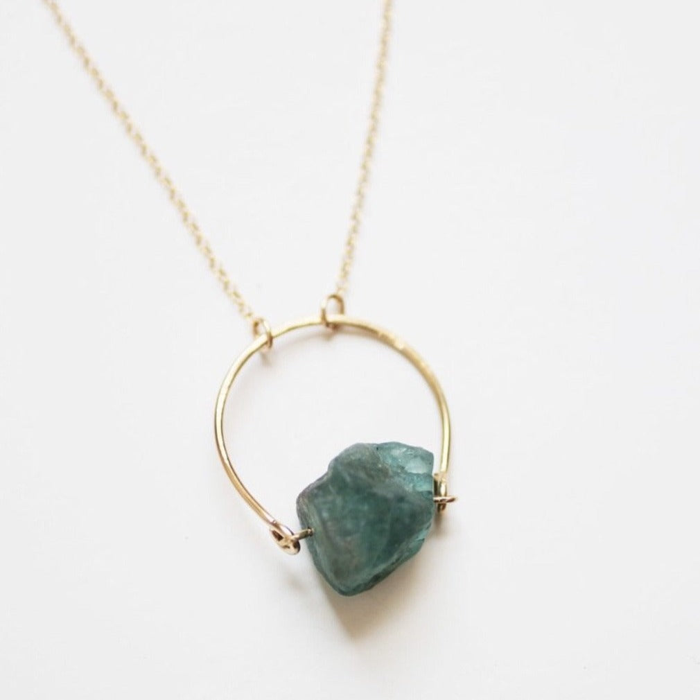 Arch Apatite Raw Crystal Necklace - Pauline Stanley Studio -Freehand Market