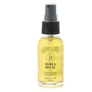 Beard & Hair Oil (Cedarwood & Rosemary) - Lo & Behold Naturals -Freehand Market