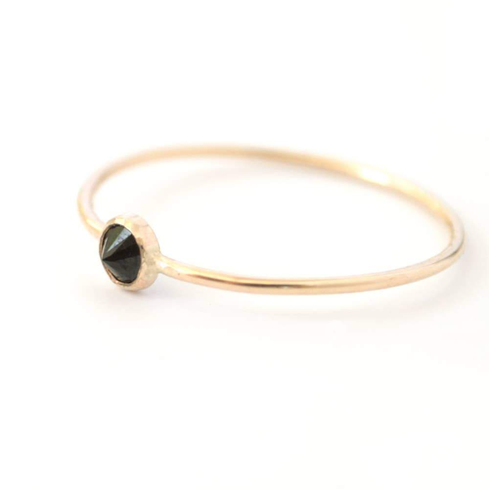 Black Spike Ring - 14k Gold Fill - Favor Jewelry -Freehand Market