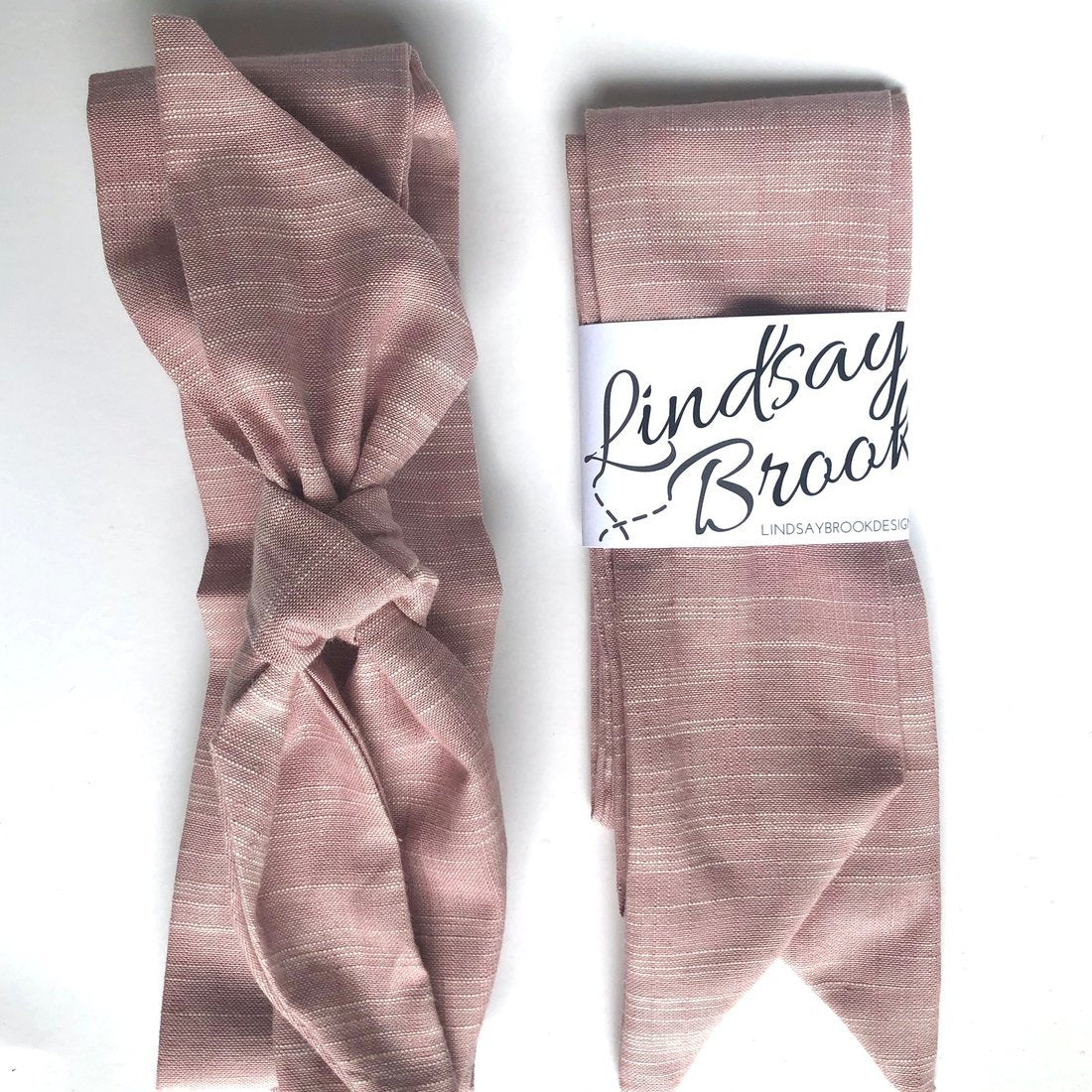 Blush Cotton Hair Scarf - Lindsay Brook Designs -Freehand Market
