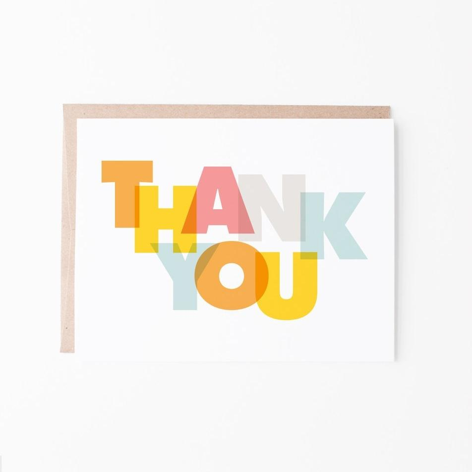 Bold Thank You Greeting Card - Graphic Anthology -Freehand Market