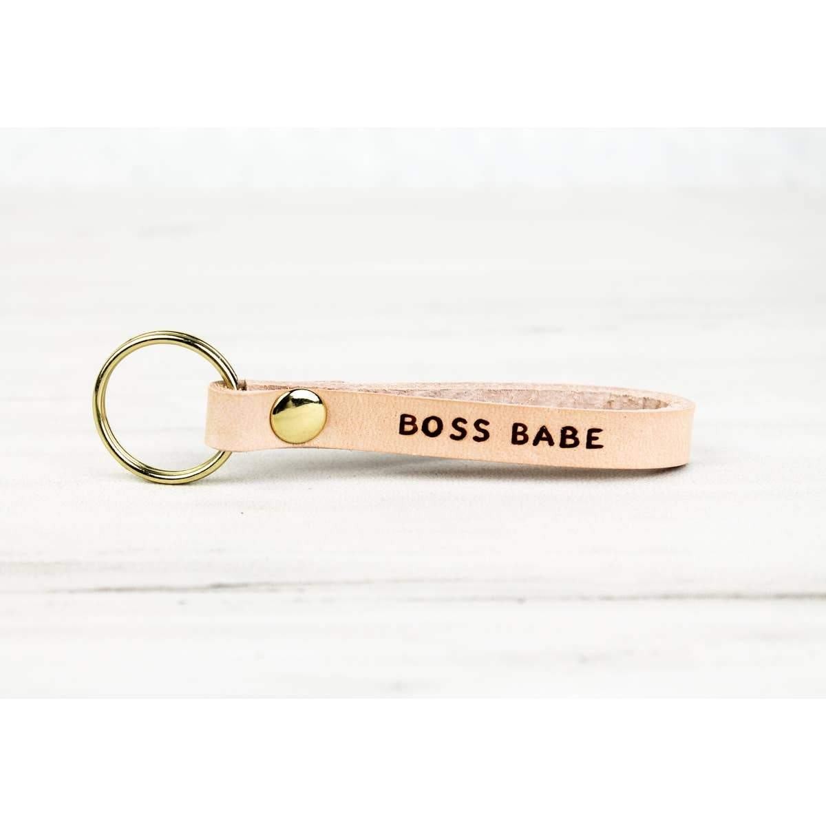 Boss Babe Leather Keychain