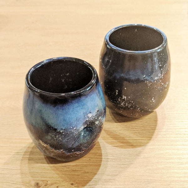 Ceramic Wine Cup (Short Tumbler) - Earth and Iron -Freehand Market