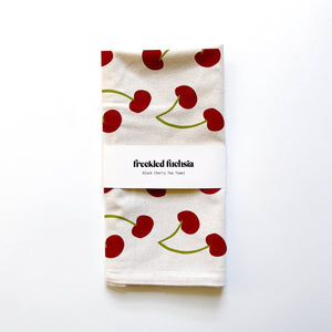 Cherries Tea Towel - Freckled Fuchsia -Freehand Market