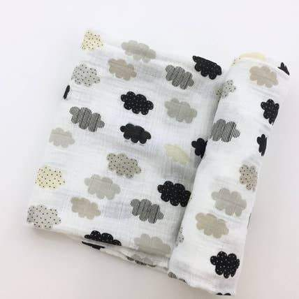 Neutral Cloud Muslin Cotton Swaddle Cloth
