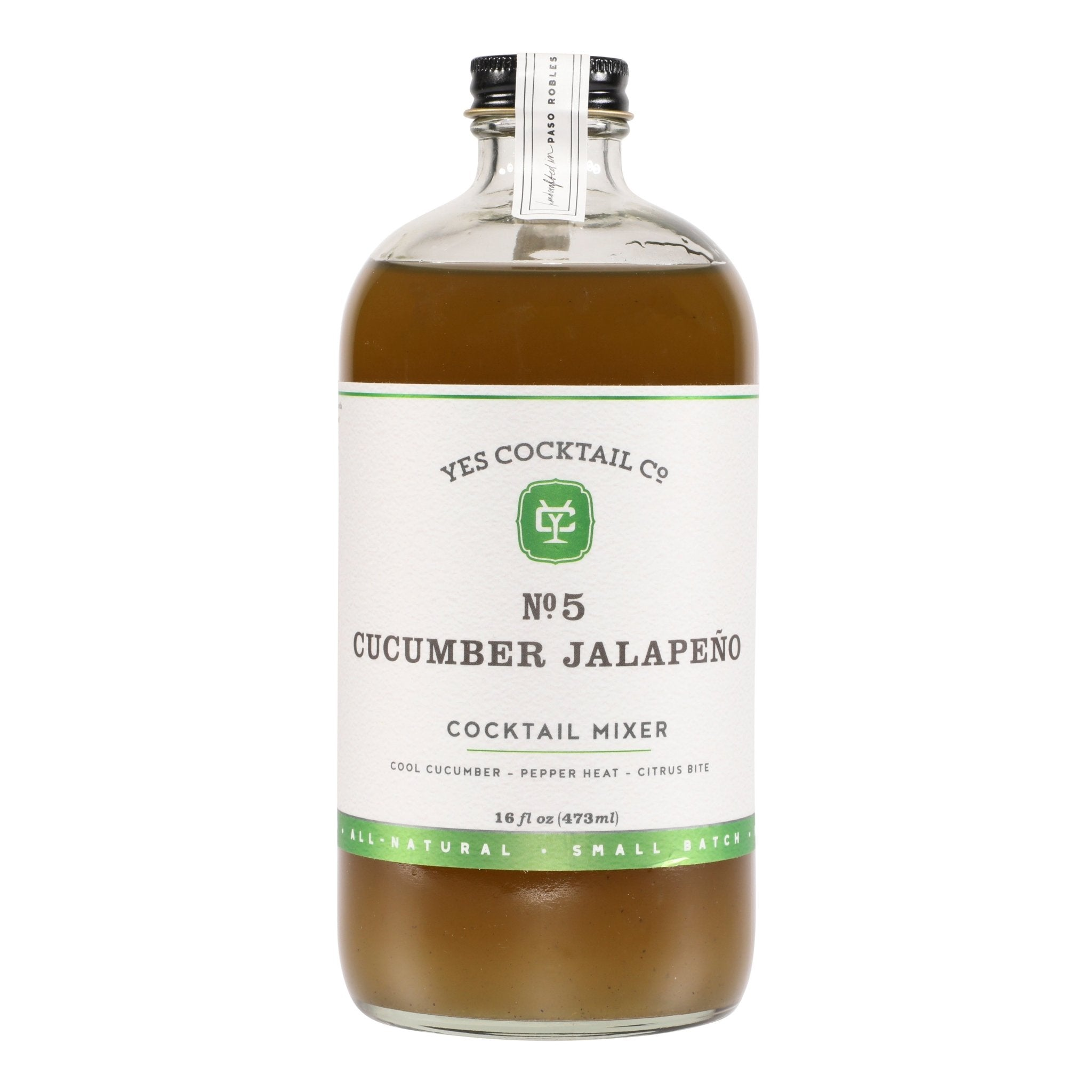 Craft Cocktail Mixer - Cucumber Jalapeño - Yes Cocktail Co -Freehand Market